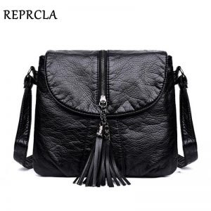 REPRCLA New Designer Shoulder Bag Soft Leather Handbag Women Messenger Bags Crossbody Fashion Women Bag Female