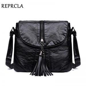REPRCLA New Designer Shoulder Bag Soft Leather Handbag Women Messenger Bags Crossbody Fashion Women Bag Female