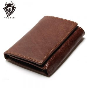 Leather Trifold Hasp Men's Wallets