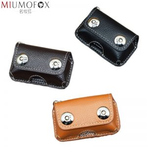 Retro Genuine Cow Leather Men s Car Key Holder  New Keys Wallet Magnetic Snap Key