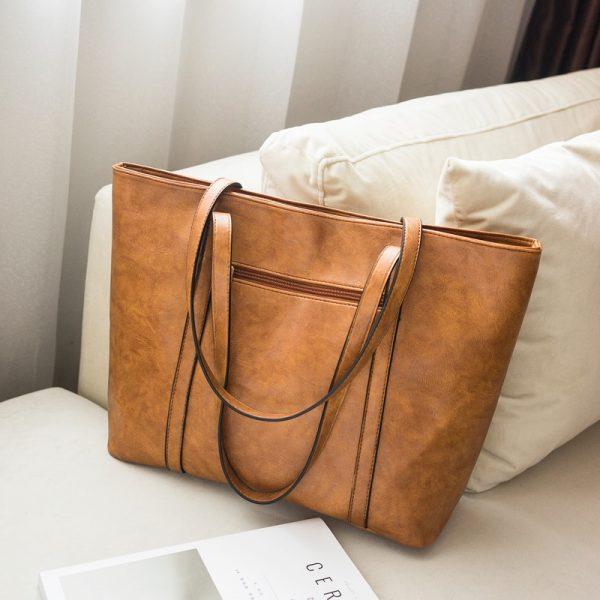 Rivet PU Leather Women Handbag Casual Tassel Women Shoulder Bag