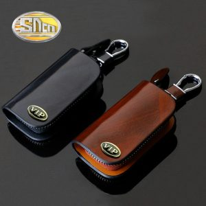 SNCN Genuine Leather Car Key Chain Wallets Cover Case For Audi BMW Ford Honda Hyundai Kia