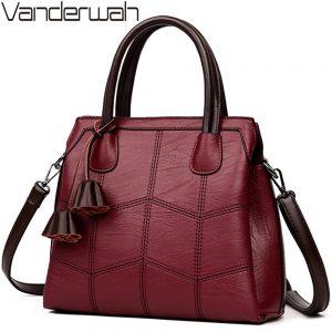 Sac A Main Genuine Leather Luxury Handbags Women Bags Designer Hand bags Women Shoulder Crossbody Messenger