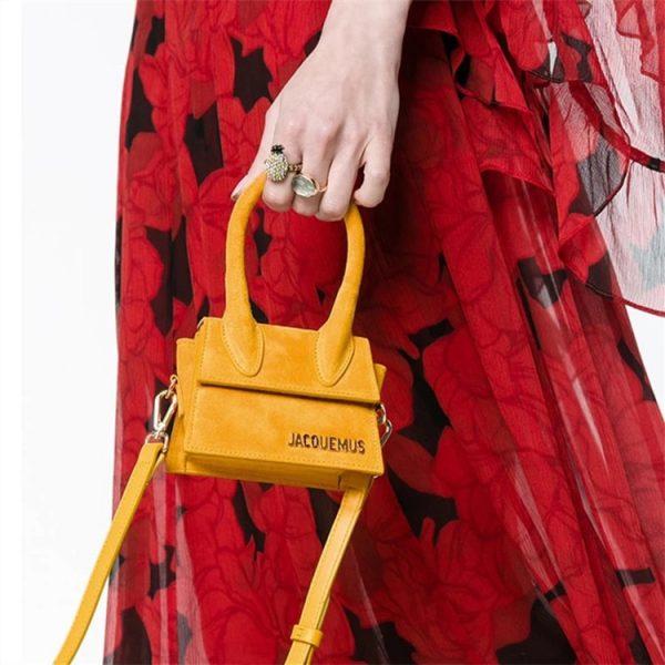 Small Totes Big handle Designer shoulder handbag Square Women Crossbody bags Female Removable shoulder strap clutch