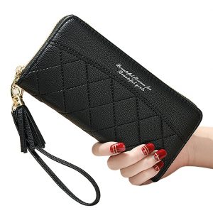 Tassels Zipper Women Wallets Coin Purse Cards ID Holder Long Woman Wallet Wristlet Money Bags Pocket