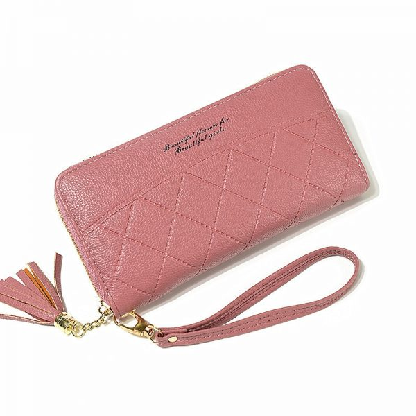 Tassels Zipper Women Wallets Coin Purse Cards ID Holder Long Woman Wallet Wristlet Money Bags Pocket