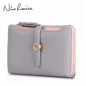 Top Quality Latest Lovely Leather Short Women Wallet Fashion Girls Change Clasp Purse Money Coin Card