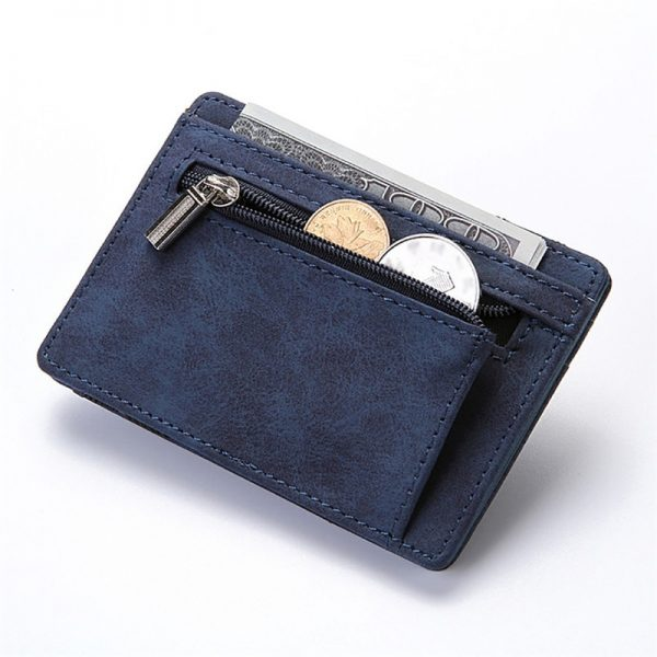 Ultra Thin Mini Wallet Men s Small Wallet Business PU Leather Magic Wallets High Quality Coin