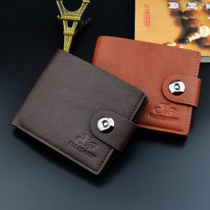 PU Leather Button Wallets