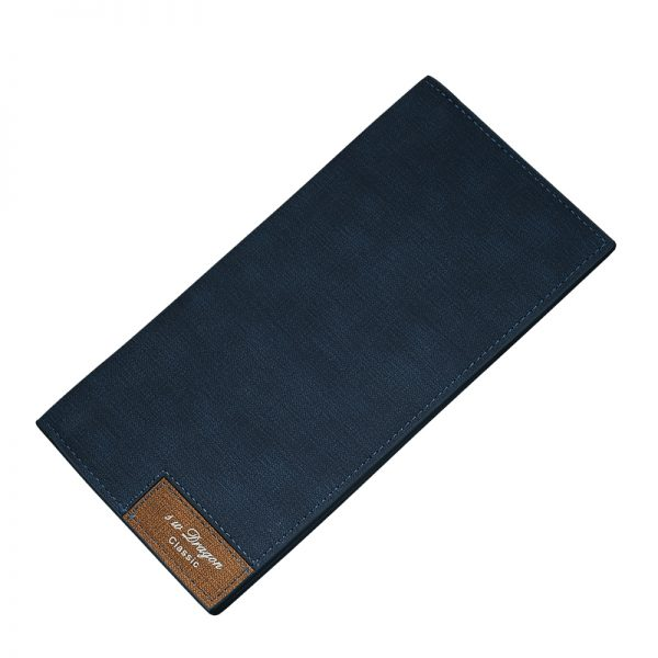 Vintage Men Wallet Male Slim Pu Leather Bifold Business Long Wallet Card Coin Wallet Hasp Money