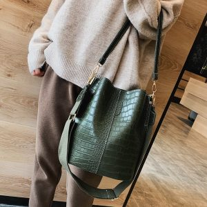 Vintage leather Stone Pattern Crossbody Bags For Women  New Shoulder Bag Fashion Handbags and Purses