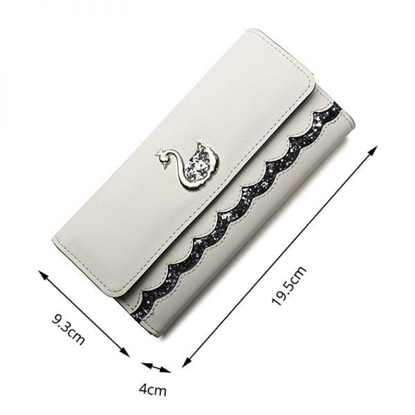Wallet Women Purse Swan Sequin Long Purse Female Clutch Bag Lovely Card Holder Designer Women s