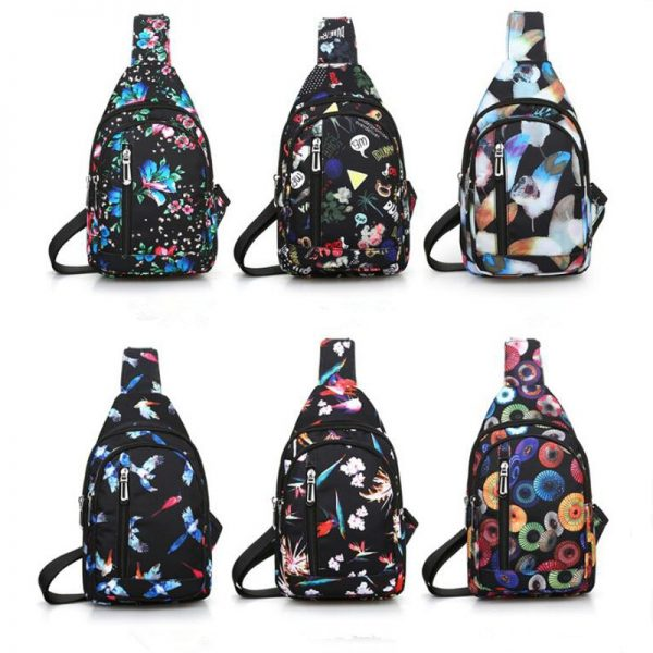 Waterproof Nylon Sling Chest Bag Back Travel Climb Cross Body Messenger Shoulder Pack Chest Bags Men