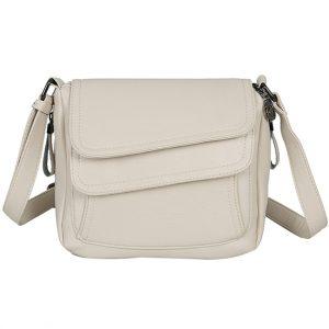 Winter Style White Handbag Leather Luxury Handbags Women Bags Designer Female Shoulder Messenger Bag Mother Bags