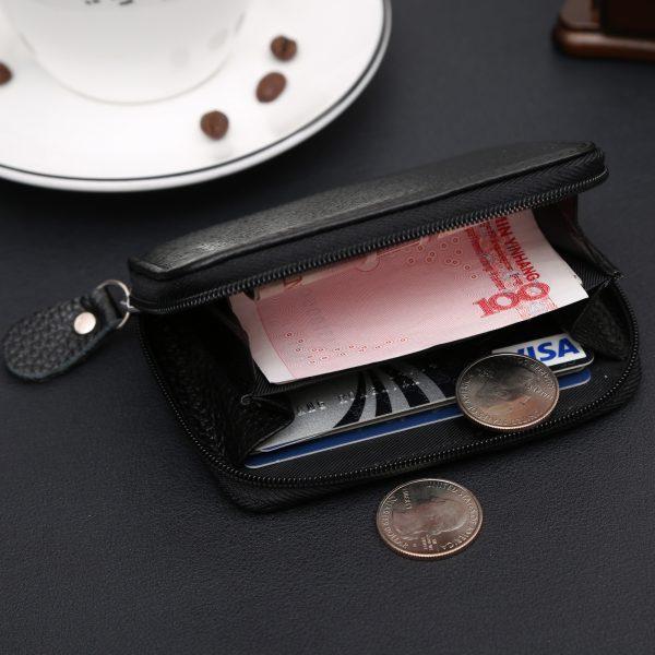 With Coin Bag Zipper Mini Wallets  New Famous Brand Men Women Purse Thin Wallet Coin