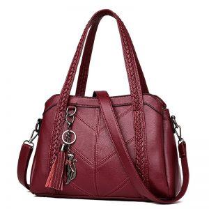 Women Handbag Genuine Leather Tote Bags Tassel Luxury Women Shoulder Bags Ladies Leather Handbags Women Fashion