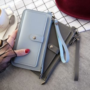 Women Long Wallet Leather Women s Purse and Wallet Design Lady Party Clutch Female Card Holder