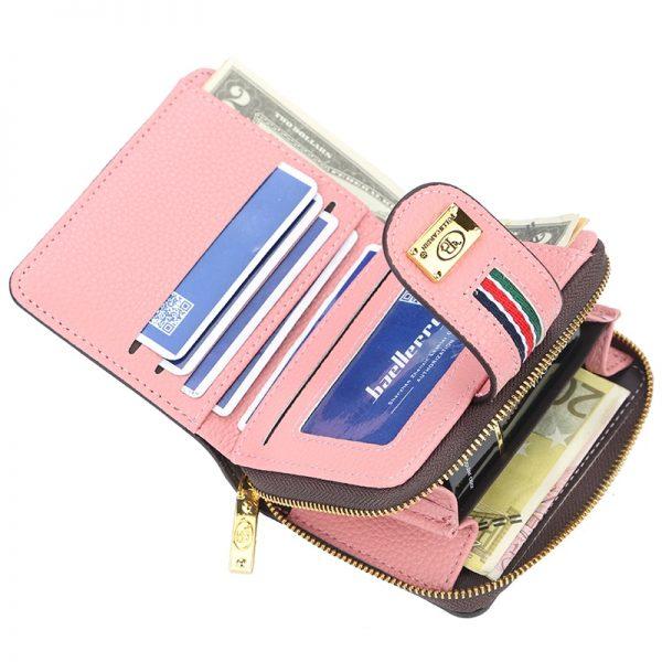 Women Wallet Leather Purse Hasp wallet female Short Small Purse Female Vintage Card Holder Zipper ladies