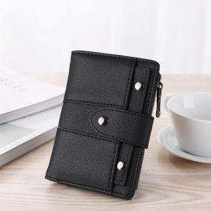 Women Wallet Simple Retro Rivets Short Wallet Coin Purse Card Holders Handbag for Girls Purse Small