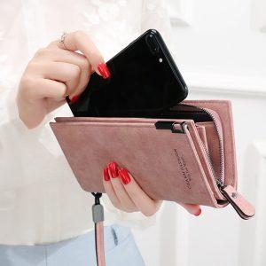 Women Wallets Fashion Lady Wristlet Handbags Long Money Bag Zipper Coin Purse Cards ID Holder Clutch