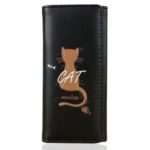 Women Wallets Long Short Lady Handbags Girls Wallet Bag Cards ID Holder Woman Cat Coin Purse