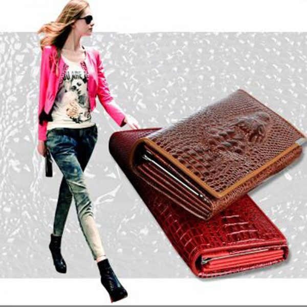 Women Women s Wallet Female Genuine Leather Wallet Brand Phone Carteira Long Hasp Clutch Bags Trifold