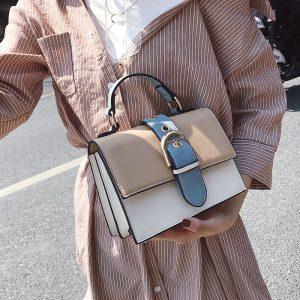 Women s Designer Handbag  Fashion New High quality PU Leather Women bag Contrast Lady Tote