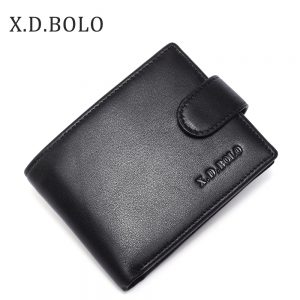 X D BOLO  Mens Wallet Leather Genuine Coin Purses Men Real Leather Wallets Hasp Male