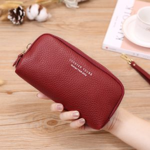 X D BOLO  Fashion Leather Women Wallet High Capacity Credit Cards Luxury Brand Leather Clutch