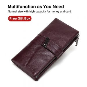 X D BOLO  Women s Wallet Genuine Leather Wallets Female Portomonee Coin Purse Long Clutch
