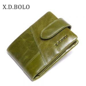 X D BOLO Short Woman Wallet Hasp Womans Wallet for Money Genuine Leather Women Purses Zipper