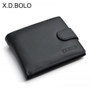 X D BOLO Wallet Men Leather Genuine Cow Leather Man Wallets With Coin Pocket Man Purse