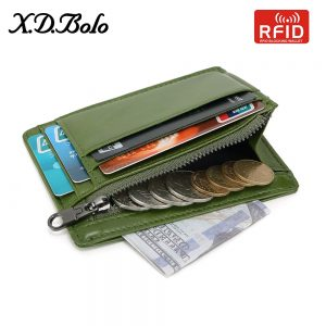 XDBOLO  Wallet Women Small Wallet RFID Card Holders Genuine Leather Women s Wallet with Coin