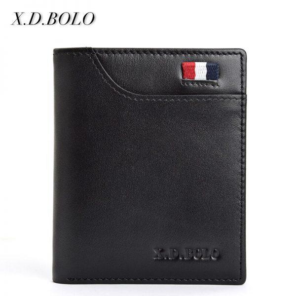 XDBOLO Fashion Genuine Leather Men Small Wallets Thin Mini Male Card Holders Purse Slim Wallet Men