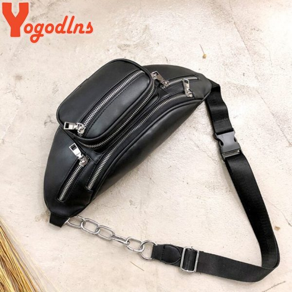 Yogodlns Casual Messenger Bag Fashion Women Shoulder Bag Chest Pack Bag Crossbody Sling Bag Purse PU