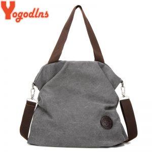 Yogodlns Women Corduroy Canvas Tote Ladies Casual Shoulder Bag Foldable Reusable Shopping Bags Beach Bag Female
