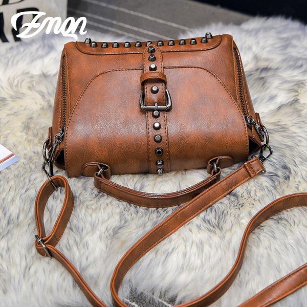 ZMQN Crossbody Bags For Women  Shoulder Bags Female Vintage Leather Bags Women Handbags Famous Brand