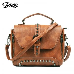 ZMQN Crossbody Bags For Women  Shoulder Bags Female Vintage Leather Bags Women Handbags Famous Brand