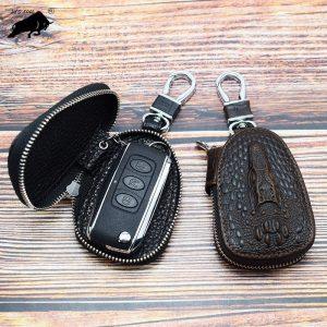 ZYD COOL Cow Leather Women Car Key Bag Wallet Men Key Case Housekeeper Organizer Holders Women
