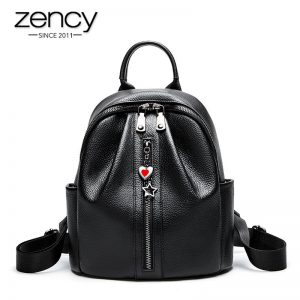 high quality leather women's backpack