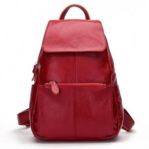 Zency  Colors  Genuine Leather Women Backpack Fashion Ladies Travel Bag Preppy Style Schoolbags For