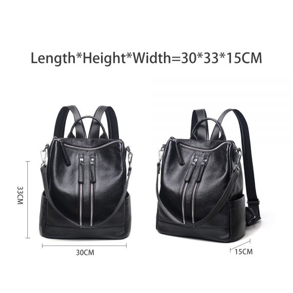 Zency Famous Brand New Style Women Genuine Leather Backpack Fashion Simple Travel Bags Female Knapsack Schoolbags