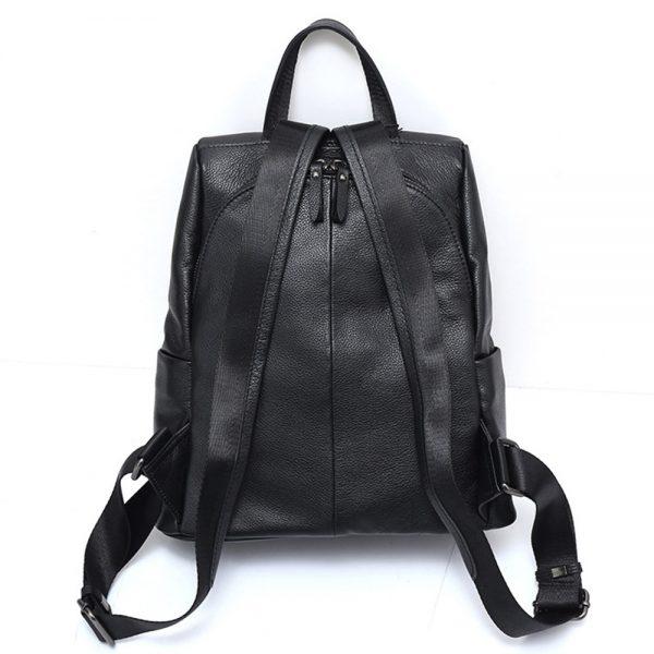 Zency New Black Women Backpack  Genuine Leather Practical Travel Bag Big Schoolbag For Girls Fashion