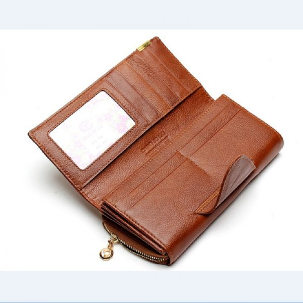 Zipper Buckle  Fold Fashion PU Leather Handbag Brand Long Leather Patchwork Coin Pocket Wallet Female