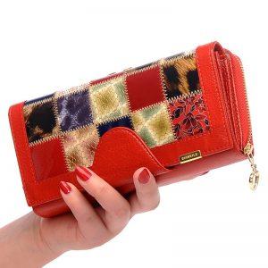 Zipper Buckle  Fold Fashion PU Leather Handbag Brand Long Leather Patchwork Coin Pocket Wallet Female
