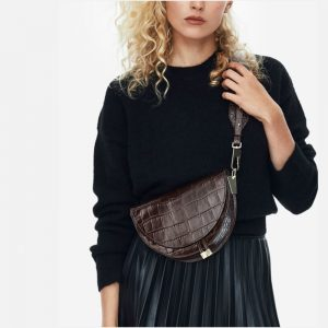 supper seabob  new fashion women clothing half circle coverd pu leather trendy one shoulder shell