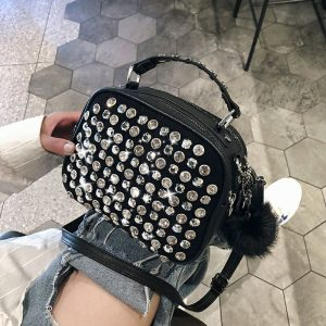 women luxury leather handbag famous designer ladies shoulder hand bag  new girl clutch diamond crossbody