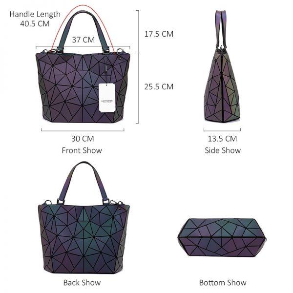 Lovevook women handbag luxury shoulder bag set folding Totes crossbody bag female purse and wallet for