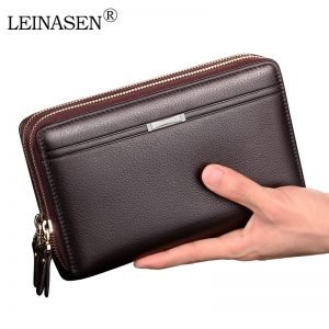Double Zipper Business Wallets