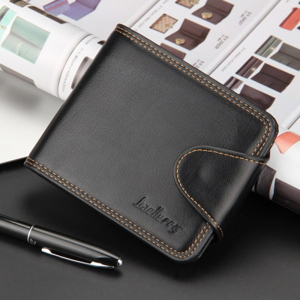 Small Men Wallets Credit Card Holders Zipper Luxury Brand Famous Handmade Leather Men Wallet Coin Pocket